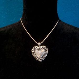 Rebecca Malone Heart Shaped Pendant Necklace